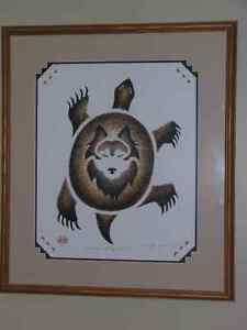 Arnold Jacobs Framed TURTLE WOLF CLAN