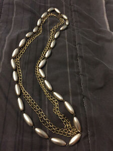 Bronze/silver necklace