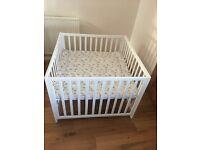 Babydan white wooden playpen