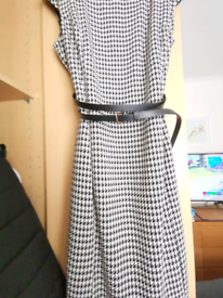 Black and white dogtooth dress