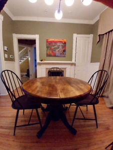 Round, Solid Wood Dining Table