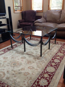 Wrought Iron Coffee Table with Glass Top Belleville Belleville Area image 5
