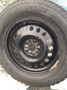 Just like new black winter tire rims bolt pattern 5x114