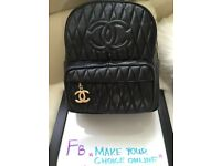 Chanel Bakkpack 100% Lambskin Leather Gold Hardware bag with packing