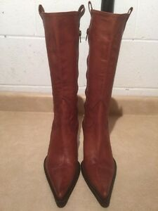 Women's Tall Leather Heels Size 6.5 London Ontario image 3