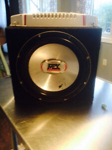 """10"""" MTX subwoofer / box with 600W Sony amp"""