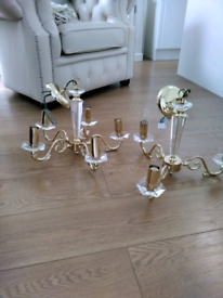 Laura Ashley 3 and 5 arm crystal chandeliers bargain £50 pair.