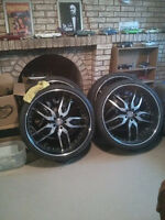 24 inch rims 90% tires $1400 or best offer