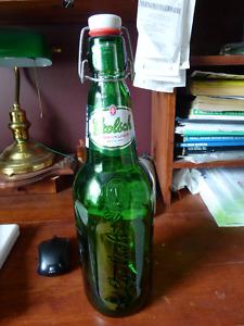 Vintage Huge Green BOTTLE GROLSCH BEER 1.5L