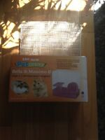 Blue double level hamster cage