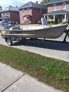 16' Misty River Fishing boat with 25 Merc & 4 hp trolling motor