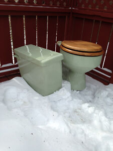 Toilet, avacado green