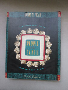 BOOK People of the Earth World Prehistory by Brian M Fagan