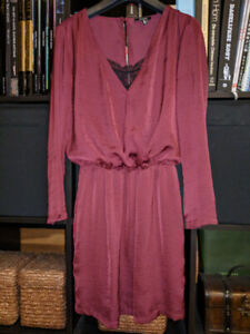 Burgundy dress with built in lace top - Size XS or S