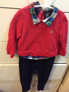 Gap one piece Red sweater outfit