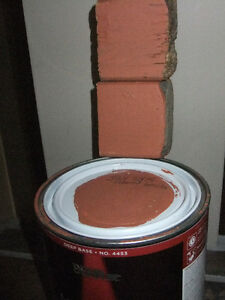 Behr Marquee Exterior Flat paint, about 775 ml