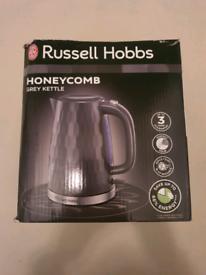 Brand new russell hobbs honeycomb grey kettle