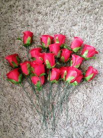 Artificial roses. Flowers. Craft.