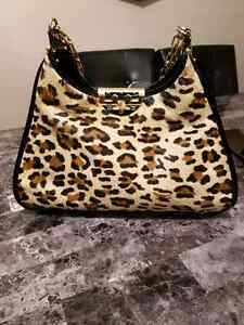 Tory burch limited edition leopard calf hair hobo animal print