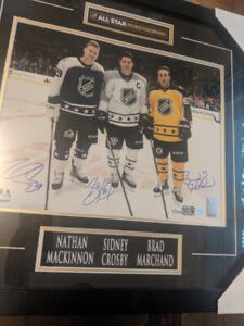 Signed NHL All Star Sidney Crosby Nathan MacKinnon Brad Marchand