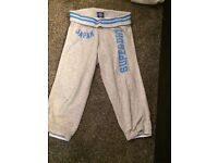 Superdry grey cropped sweat pants XL
