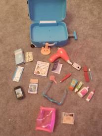 Our Generation travel case & large bundle