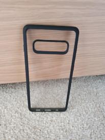 Samsung S10+ Protective Case with Black Bumper. (S10 Plus)