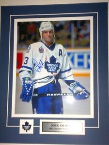 Gilmour Clark Andreychuk signed 8x10s + Leafs auto'd memorabilia