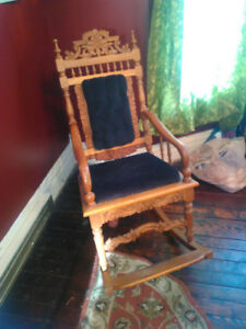 19th century Carved Rocking Chair