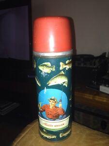 Vintage 1952 Aladdin Angler thermos