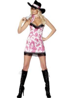 Cowgirl pink Sexy Kostüm Damen Gr. M Karneval Cowboy und Indianer - (Cowboys Und Indianer Kostüme)