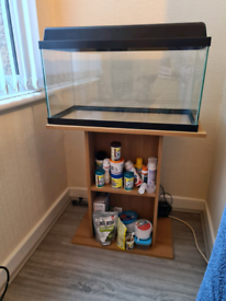 60 Litre Clean Fish Tank, Stand & Parts