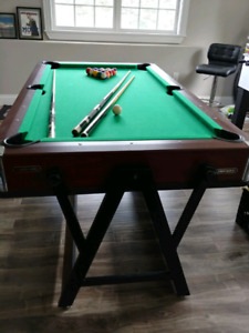Pool Table with Air Hockey