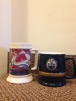 Official NHL Glass Mugs $10 each