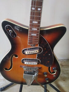 1960's Archtop Hollow Body Electric Guitar