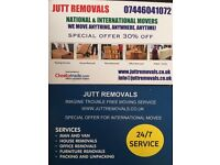 MAN AND VAN JUTT REMOVALS LTD NATIONAL &INTERNATONAL MOVER