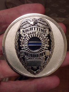 LARGE 70mm MIAMI DADE K9 NIGHTTIME ACADEMY COIN