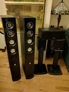 5.0 home theatre set/Sony speakers/Theatre Research towers