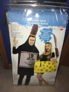 Wine and Cheese - Couple Halloween Costume Set