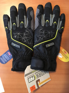 WORK PRO WATERPROOF HYBRID GAUNTLET GLOVES (Large)