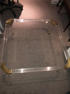 Glass Top Coffee Table - Table Café en Verre