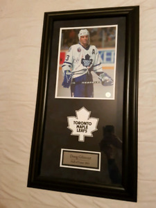 Limited signed Doug Gilmour print other hockey stuff too