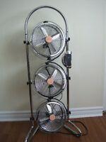 Ventilateur Airworks triple de 9 pouces en métal