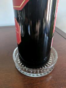 Wine bottle coaster