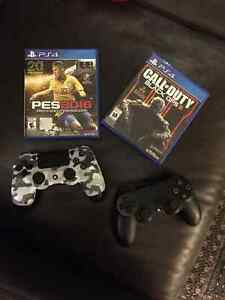 PS4 500GB  Bundle - 3 games and 2 controllers