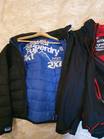 3 jackets for sale 2 super dry large and 1 xl