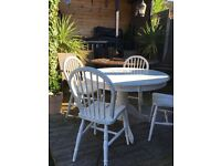 Pale grey shabby sheek dining table