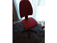 Free to a good home - home office chair (red)