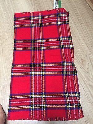 Kilt Mens Tartan Tartanista Men's Kilt Size 48 Waist Royal Stewart Highland New