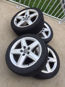 Set of 4 mags with winter tires (225/45/17)